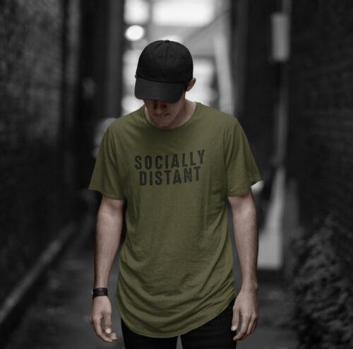 Socially Distant Mens Husband Gift Novelty Social Distancing Sarcasm Funny Shirt