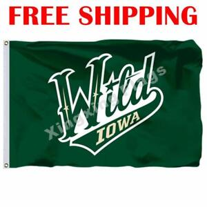 Iowa-Wild-Logo-Flag-AHL-American-Hockey-League-2018-Banner-3X5-ft