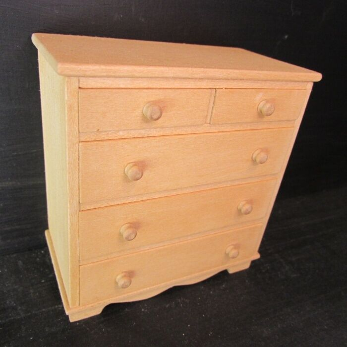 Chest of Drawers  WOODEN  Dolls House Miniature  1/12 scale