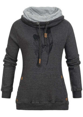 39/% OFF B16091656 Damen Eight2Nine Pullover Sweater doppeltem High Neck dk grau