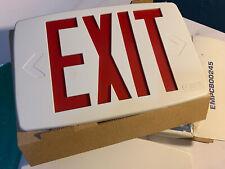 Lithonia Lighting Quantum Incandescent Exit Sign Redgreen Plates 120v