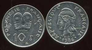 Polynesie Francaise 10 Francs 1986