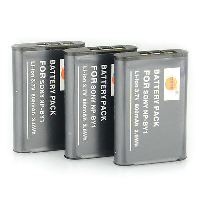 DSTE 3x NP-BY1 Li-ion Battery for Sony HDR-AZ1/AZ1VR/AZ1VB/AZ1VW Camera