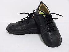 "Stride Rite Toddler Tech ""Barney"" Black Leather Oxford Lace Shoes Boys 9.5 M EUC"
