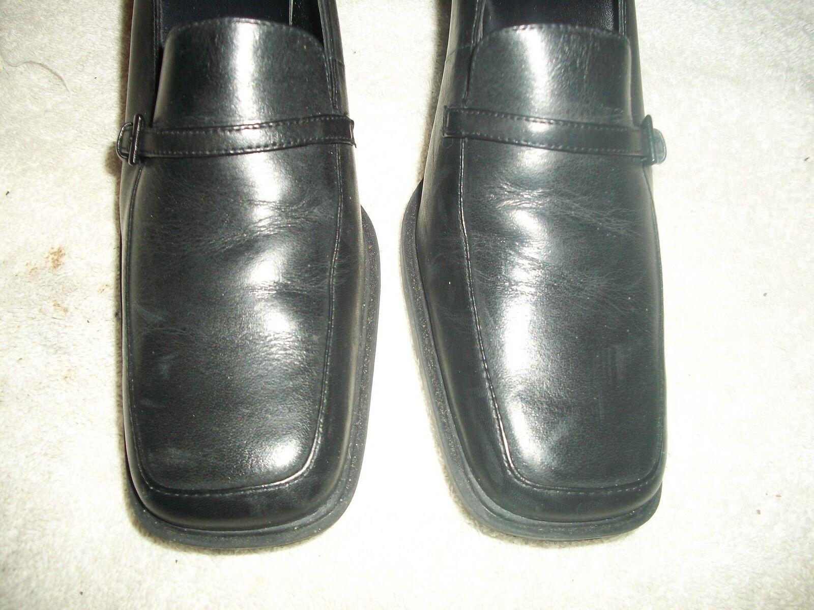 qu'est - ce ce - que mes chaussures à talons de 8 m ministère de cuir noir euc f6f066