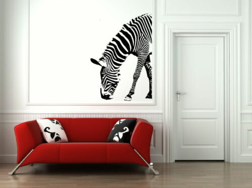 Huge Home Wall Transfer Half Zebra Animal Wall Decal Animal Vinyl Decal ne16
