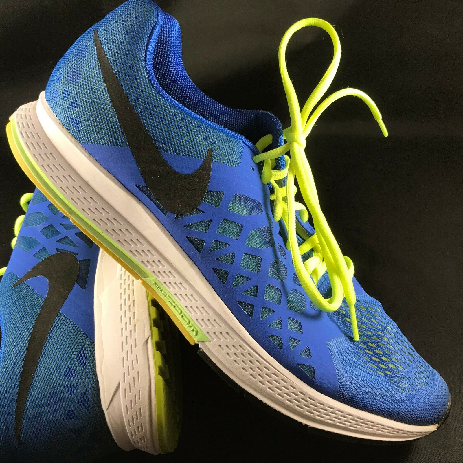 NIKE PEGASUS 31 Medium bluee Volt White Mens 13 47.5 EUR Excellent condition