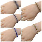 Gold Silver Plated Rhinestone Crystal Chain Bracelet Xmas Party Wedding BF gift