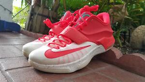 new concept ff441 0e70d Details about Mens Nike KD VII 7 QS xmas Christmas red OG PE rare Egg nog  crimson 707560 613