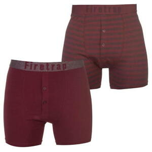 MENS-FIRETRAP-BURGUNDY-STRIPED-BOXER-SHORTS-PACK-OF-2-RRP-29-99-SALE-10-OFF
