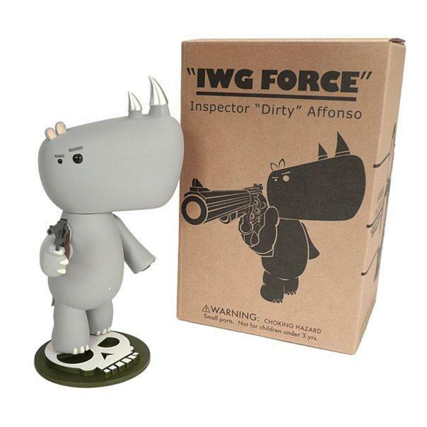 INSPECTOR 'DIRTY' AFFONSO RINO IWG FORCE MOVIE ICON I.W.G. DESIGNER VINYL FIGURE