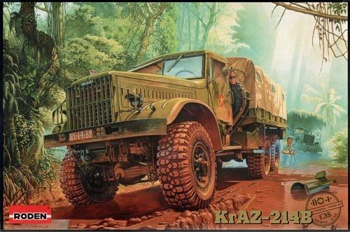 Roden 1 35 KrAZ-214B Plastic Model Kit