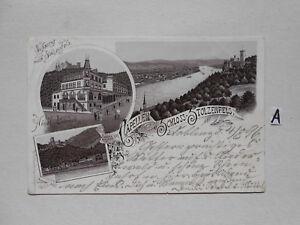 Carte Postale Vue Carte Saxe. Gruss De Capellen Château-stolzenfels-nfels Fr-fr Afficher Le Titre D'origine