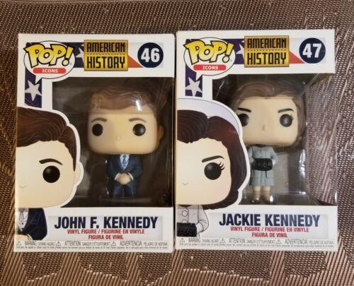 //// The Kennedy/'s Set #46 JFK /& #47 Jackie Kennedy //// IN HAND /& MINT! Funko Pop