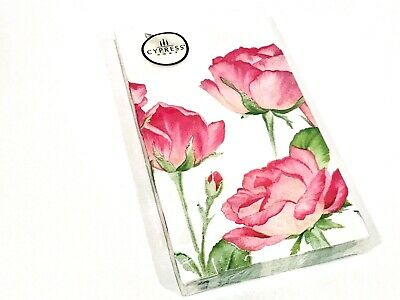 Decoupage 3-ply Cypress Home GARDEN BEE ROSES Paper Guest Towels 15 pk
