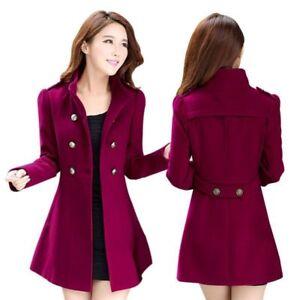 Women Korean Long Coat Jacket Ladies Fashion Trench Outwear Winter