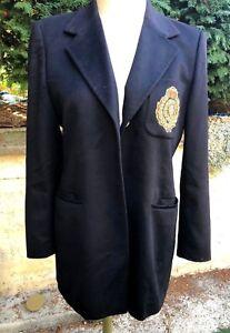 8d1344e1076c3c Détails sur manteau 100% Cachemire Noir ESCADA t XL 42 44 TBE promo outlet  coat caban veste