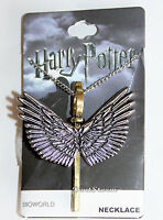 Harry Potter Enchanted Flying Winged Key Keyblade Pendant Charm 24 Necklace
