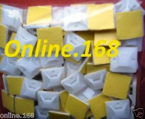 Self-adhesive-cable-tie-mounts-cable-tie-base-20mm-30mm-100-500pcs-4-Way-WHITE