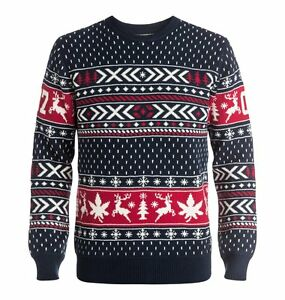 Dc Christmas Sweater.Details About Dc Shoes Ugly Xmas Sweater L