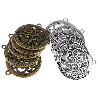 10x Alloy Tree of life Charms Pendants for Jewelry Making DIY Handmade Craft