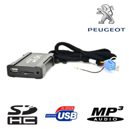 Boitier USB SD AUX MP3 Peugeot 206 307 406 407 607 807 RD3 RT3 VDO avant 2006
