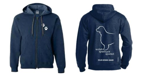 Welsh Springer Spaniel Full Zipped Dog Breed Hoodie Exclusive Dogeria Design