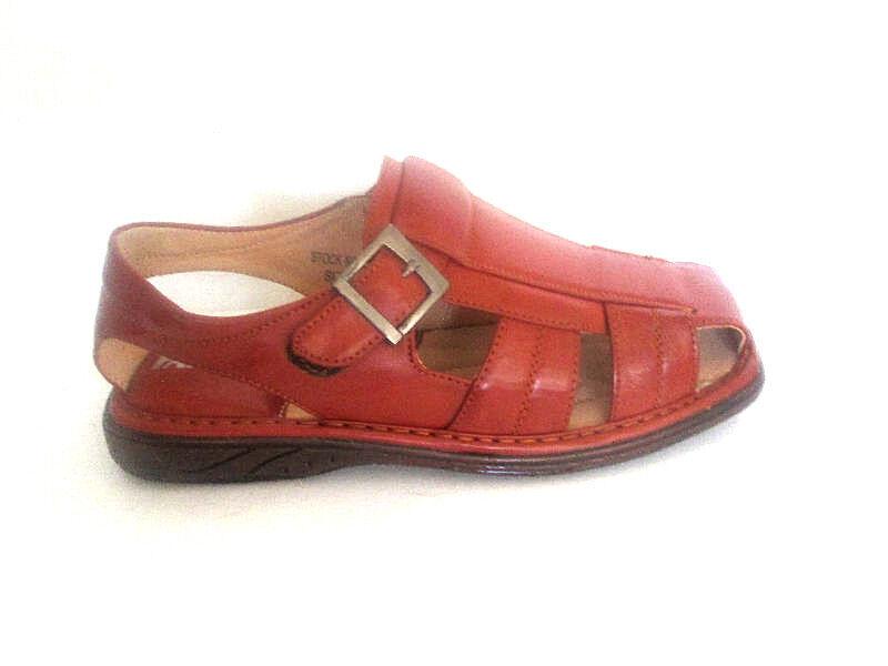 Faranzi Fishermen Tan Sandals Straps*Vegan Leather* Closed Toe* FR8611