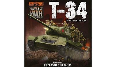 SUAB12 SOVIET T-34 TANK BATTALION FLAMES OF WAR PLASTIC