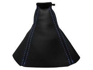 OPEL-VECTRA-C-2002-2009-Soufflet-Levier-De-Vitesse-Cuir-Couture-Bleu-Clair