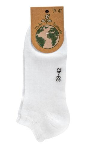 3-15 pares algodón ecológico Organic cortos señora caballero calcetines cortos de Gots