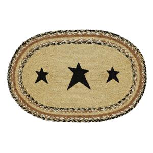 1-Placemat-Kettle-Grove-Black-N-Tan-w-Stars-Table-Mat-12-034-x18-034-Farmhouse