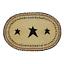 1-Placemat-Kettle-Grove-Black-N-Tan-w-Stars-Table-Mat-12-034-x18-034-Farmhouse thumbnail 1