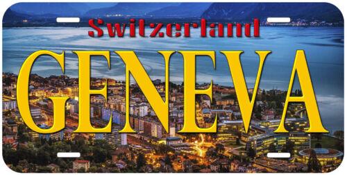 Geneva Switzerland Novelty Auto Car Tag License Plate