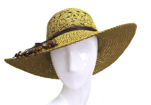 Scarfand/'s Adjustable Jewelry Tied Sun hat
