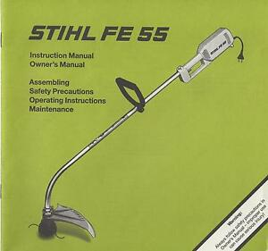 stihl weed trimmer fe 55 instruction owner s manual 100 ebay rh ebay com Stihl FS45 Weed Trimmer Stihl FS 55 Trimmer Head