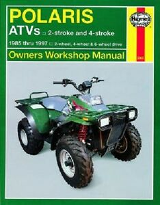 haynes service repair manual m2302 polaris xplorer 300 400 500 4x4 rh ebay com 1998 Polaris Sport 400 1998 polaris xplorer 400 repair manual