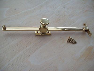 Poliertes Messing Schwer Fensterflügel Halt 250mm//25.4cm