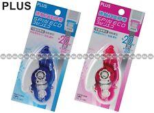 """PLUS Glue Tape Adhesive Roller Vellum 1//3/""""x52/' TG-610BC-VE 8.4mmx16m"""