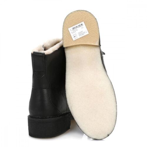 con 4 8 negra Botines sintética May dama 5 7 6 forro para de piel Reino Maru Unido piel Clarks de HwHZrq8