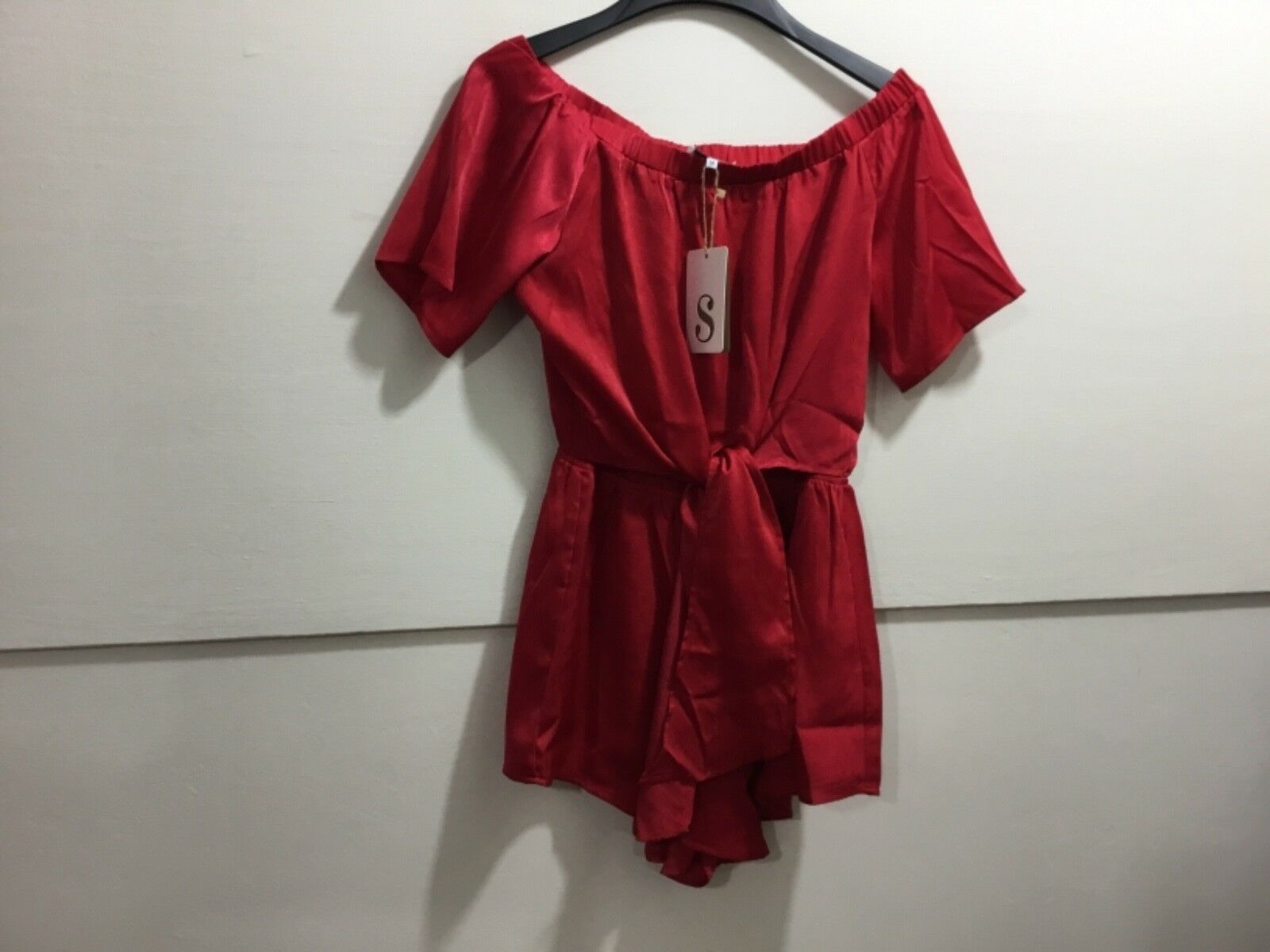 Saba skirt ladies medium NWT adorable red short romper
