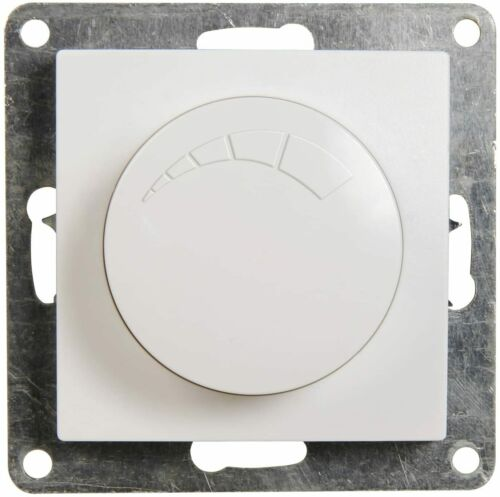 FLAIR Schalterprogramm weiß matt Schalter Dimmer Steckdose Rahmen Unterputz