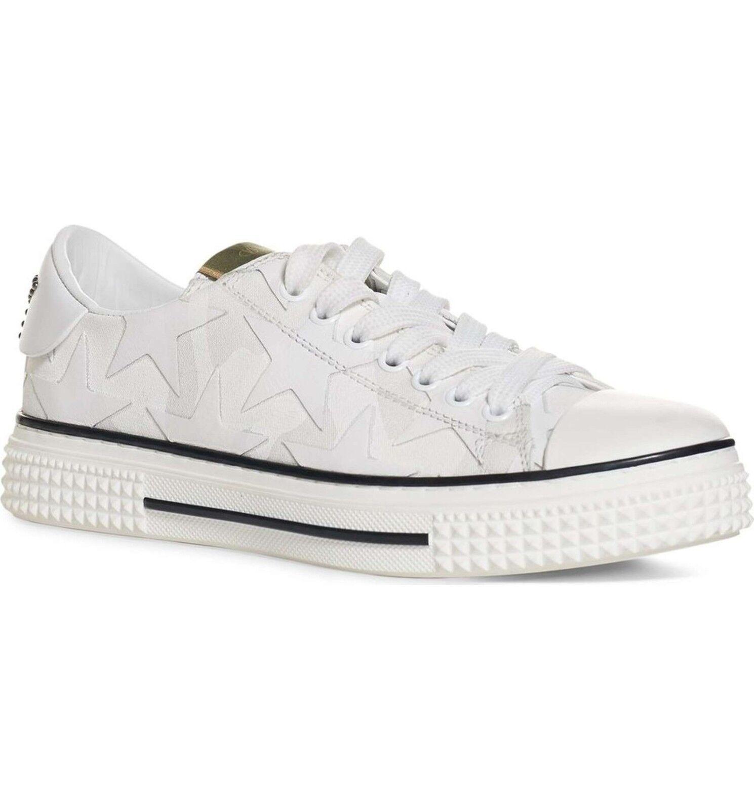 945.00 Valentino Garavani 'Star' Low Top Sneakers  sz US 10   EU 40 white