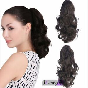 Real Human Hair Clip In Ponytail 80