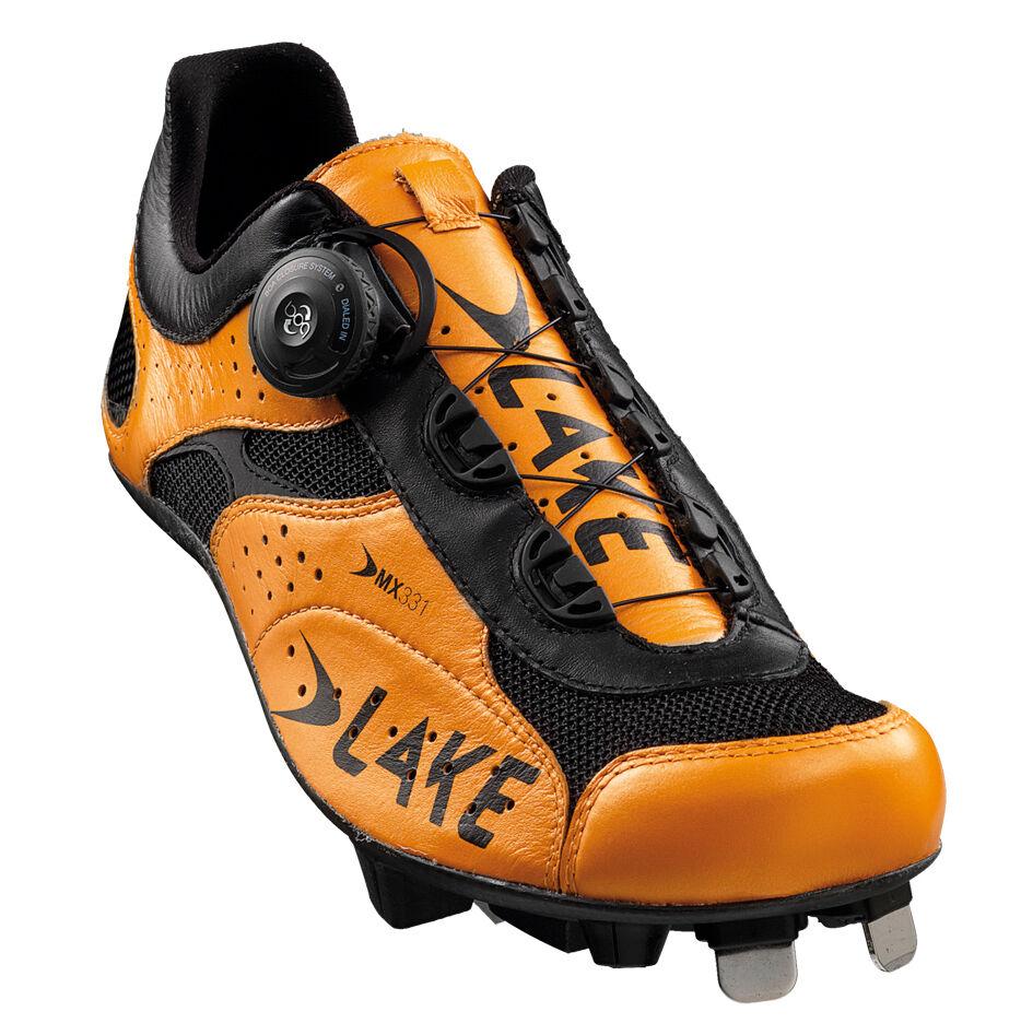 Lake's MX331 Cross 47 Cyclocross Heat Moldable EU 47 Cross US 13  New 9a6e47