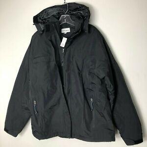 Port-Authority-Men-039-s-XL-Nootka-Waterproof-Black-Ripstop-Nylon-Jacket-NWT