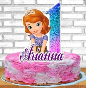 Admirable Princess Sofia The First Cake Topper Personalized Ebay Personalised Birthday Cards Cominlily Jamesorg