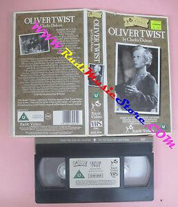 VHS-film-OLIVER-TWIST-Charles-Dickens-David-Lean-RANK-inglese-F153-no-dvd