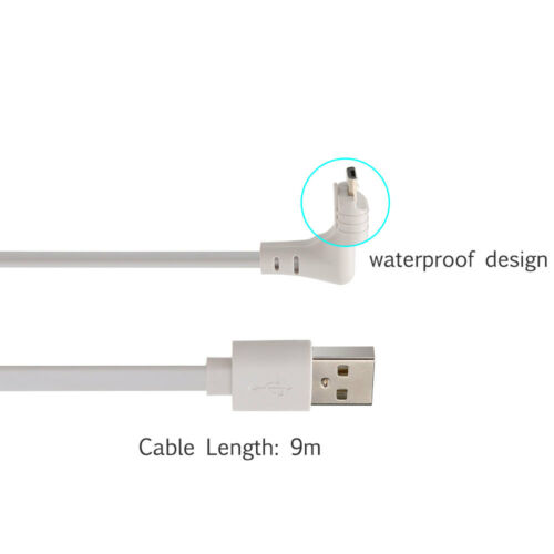 30ft//9M Arlo Pro 2 Power Cable Waterproof Power Charger for Arlo Pro