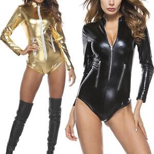 Women-Leather-Tops-Bodysuit-Night-Club-Leather-Bodysuits-Underwear-S-4XL-AB-RSFD